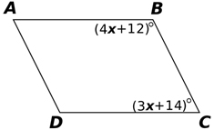 Find the measure of angle x in the figure below: 60° 50