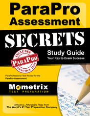 Paraprofessional study guide 2019-2020: parapro assessment review.