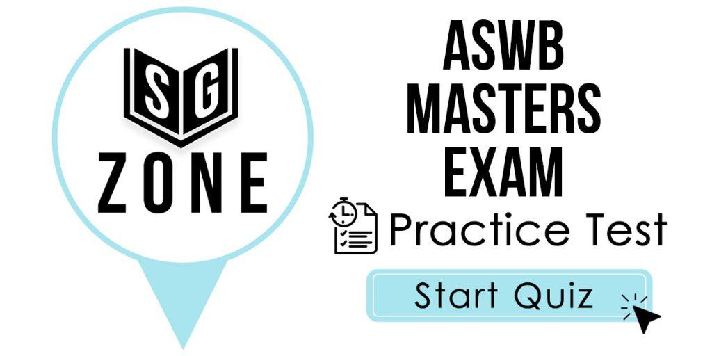 ASWB Masters Exam Practice Test