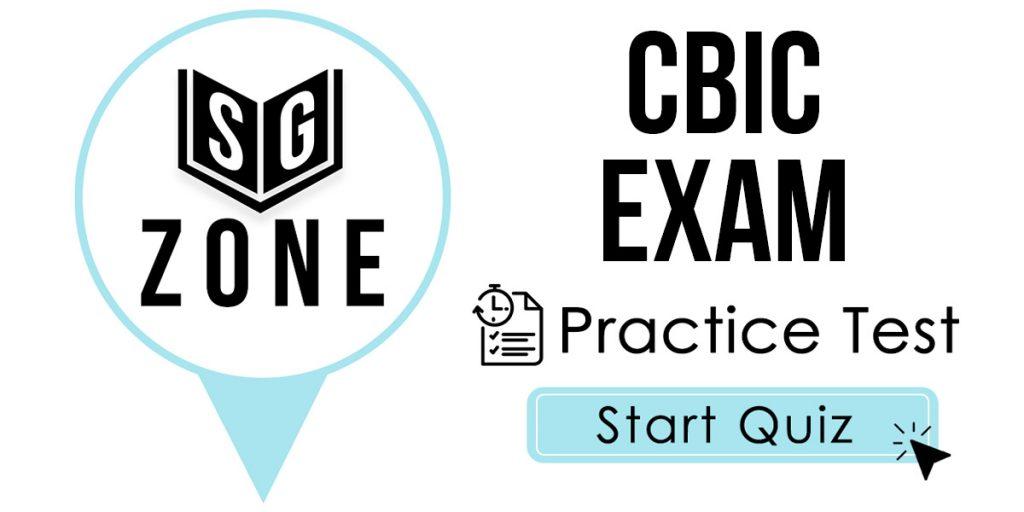 CBIC Exam Practice Test