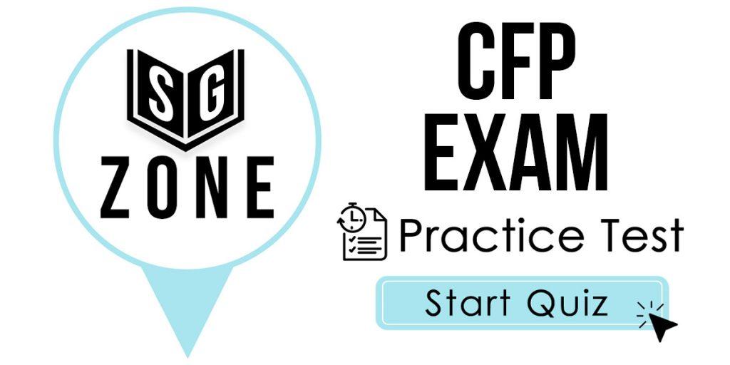 CFP Exam Practice Test