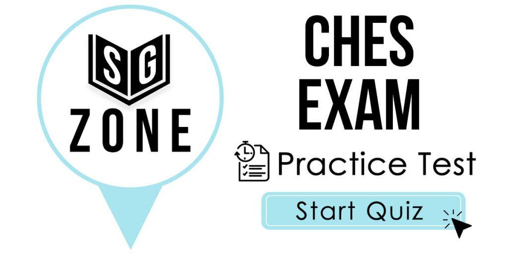 CHES Exam Practice Test