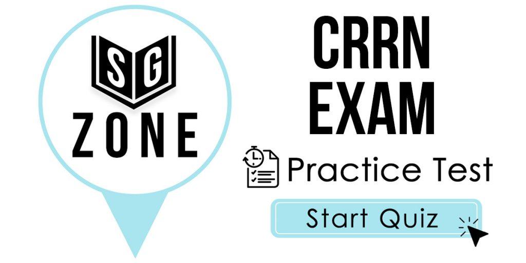 CRRN Exam Practice Test