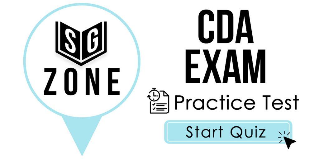 CDA Exam Practice Test