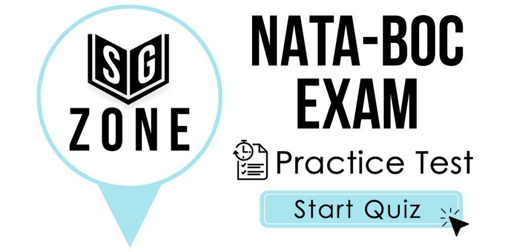 NATA-BOC Exam Practice Test