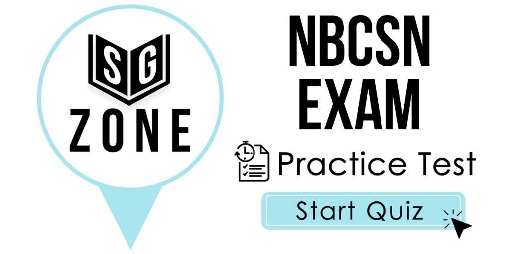 NBCSN Exam Practice Test