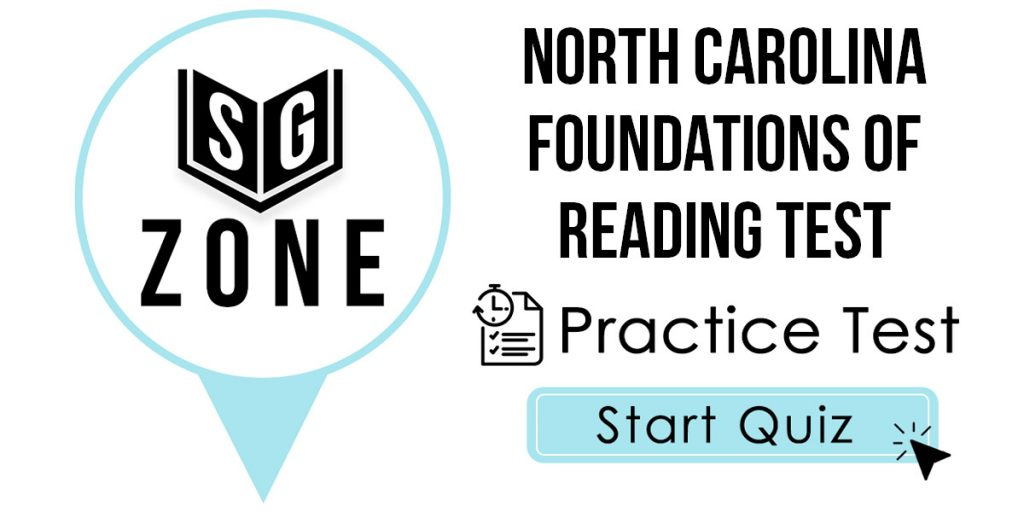 North Carolina Foundations of Reading Practice Test