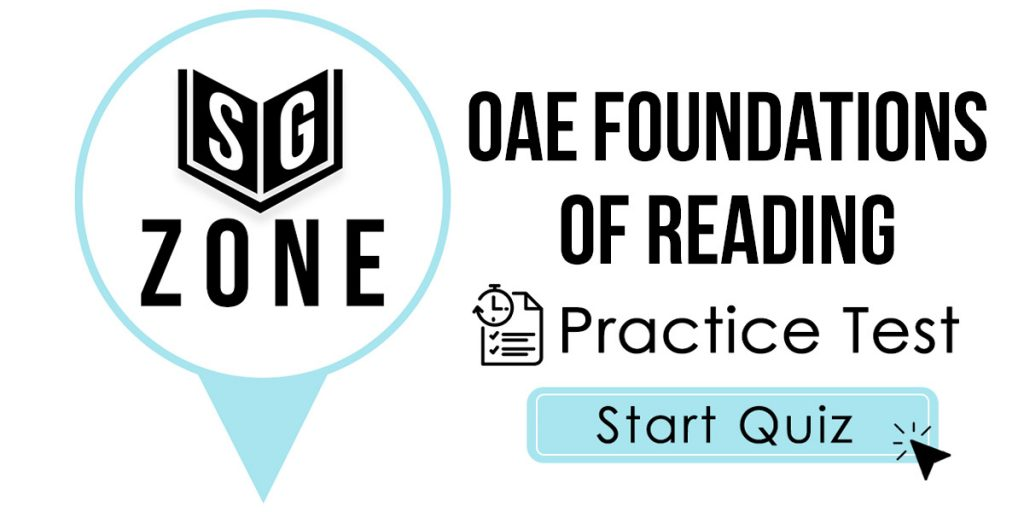 OAE Foundations of Reading Practice Test