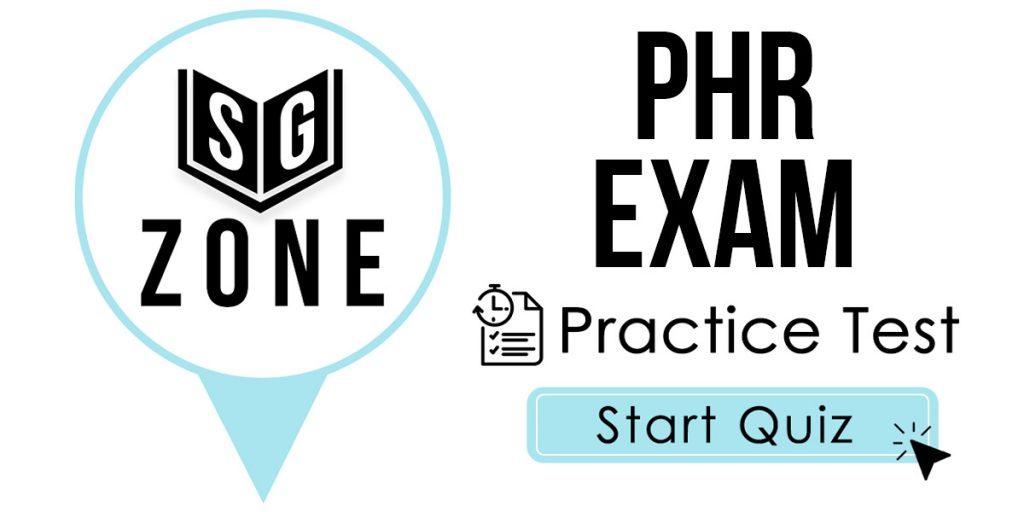 PHR Exam Practice Test