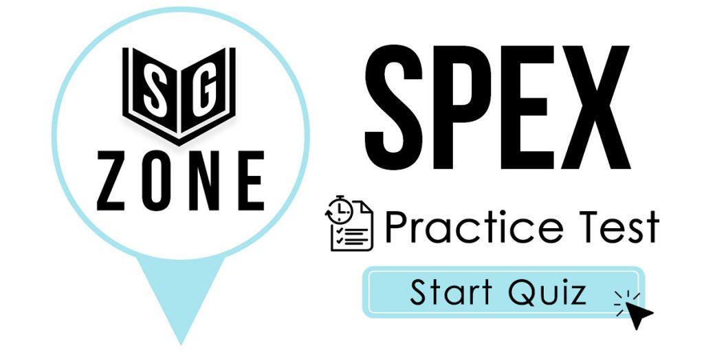 SPEX Practice Test