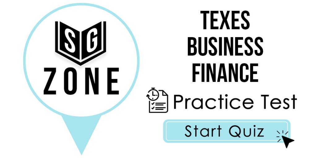 TExES Business Finance Practice Test