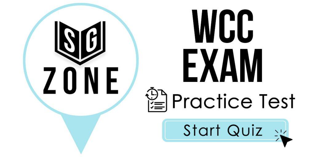 WCC Exam Practice Test