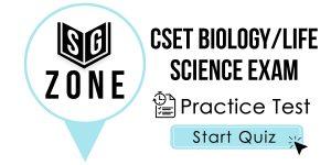 CSET Biology/Life Science Exam
