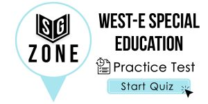 WEST-E Special Education Test