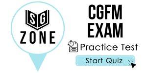 CGFM Exam